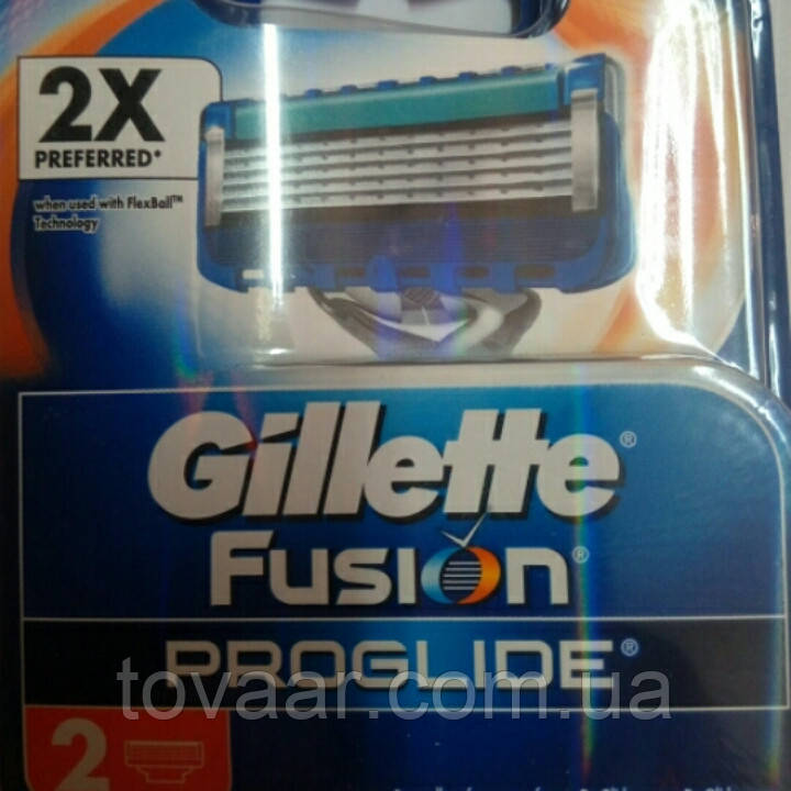 Картриджі, касети Gillette FUSION ProGlide (2шт)