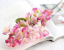 Цветы вишни на ветке, розовый, 55 см
