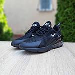 Чоловічі кросівки Nike Air Max 270 (чорні) 10207, фото 6