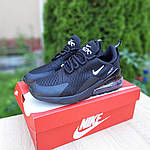Чоловічі кросівки Nike Air Max 270 (чорні) 10207, фото 5