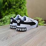 Чоловічі кросівки Puma Cali (біло-чорні) 10208, фото 2