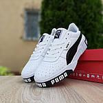 Чоловічі кросівки Puma Cali (біло-чорні) 10208, фото 6