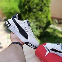 Мужские кроссовки Puma Cali (бело-черные) 10208