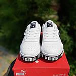 Чоловічі кросівки Puma Cali (біло-чорні) 10208, фото 9