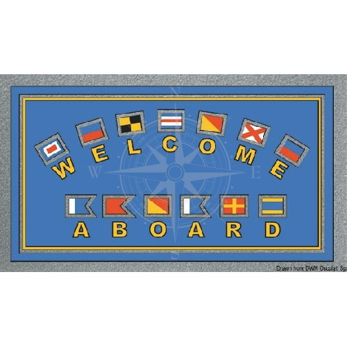 "Коврик ""Welcome Aboard"", флаги, 40х68 см, Osculati."