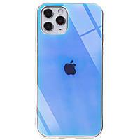 "TPU+Glass чехол Gradient Rainbow с лого для Apple iPhone 11 Pro (5.8""), фото 1"