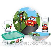 Детский набор столовой посуды Luminarc Vroom из 5 предметов (P7868)