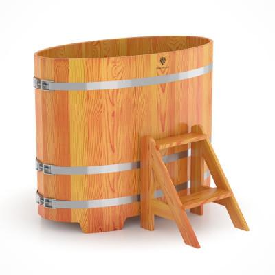 Купель для бани овальная натуральная лиственница BENTWOOD 800X1420 светлая 650 литров