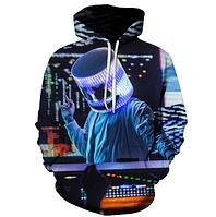 3D кофта (Толстовка) с принтом DJ Marshmello