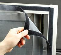 Антимоскитная Сетка на Окно с липучкойчёрная 50 х 150см