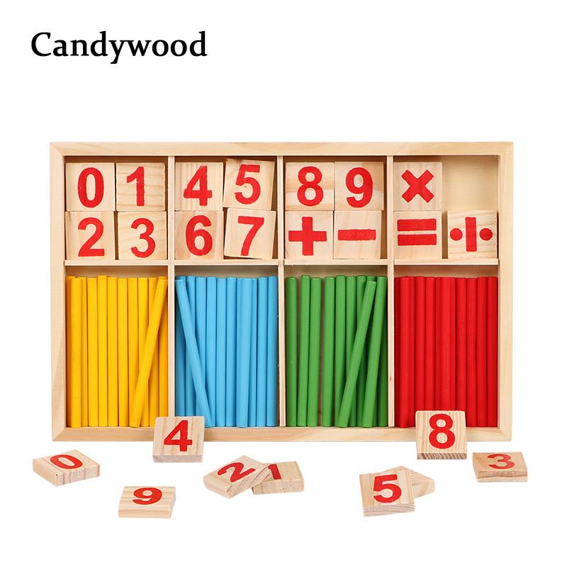 """Обучающая, развивающая игра Candywood  """"Математика"""", деревянная арифметика"""