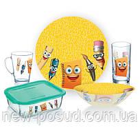 Детский набор столовой посуды Luminarc Stationery из 5 предметов P7866