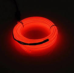 Холодный неон с кантом 5 метров / Светодиодная молдинг - лента - полоска - нить / Подсветка / Световой провод