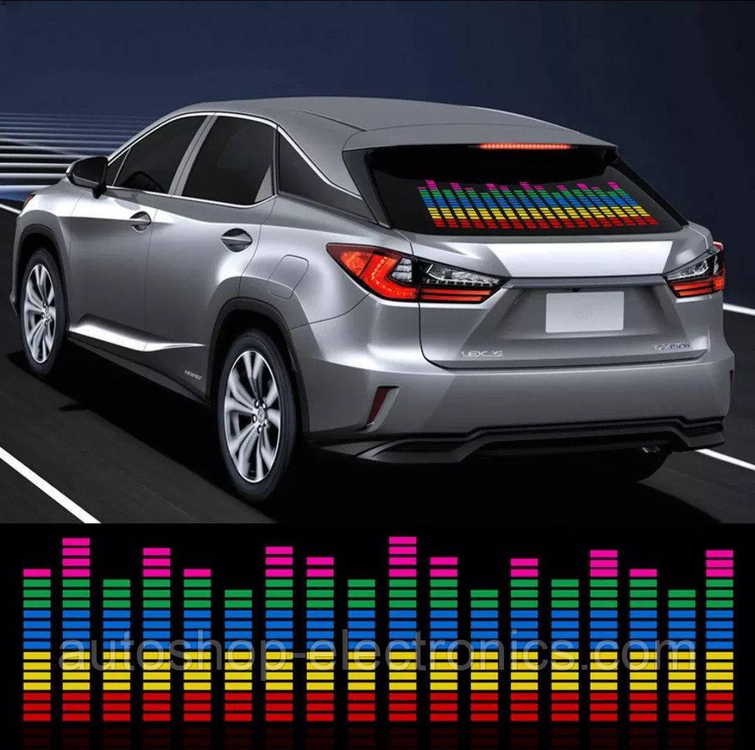 Эквалайзер LED + звуковой контроллер 90х25 см / Светомузыка / Подсветка