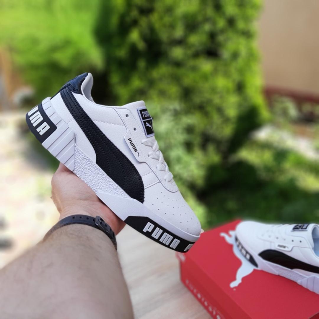 Женские кроссовки Puma Cali (бело-черные) 20151