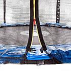 Батут Atleto 183 см. с защитной сеткой  синий, фото 3