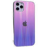 "TPU+Glass чехол Gradient Aurora с лого для Apple iPhone 11 Pro (5.8""), фото 1"