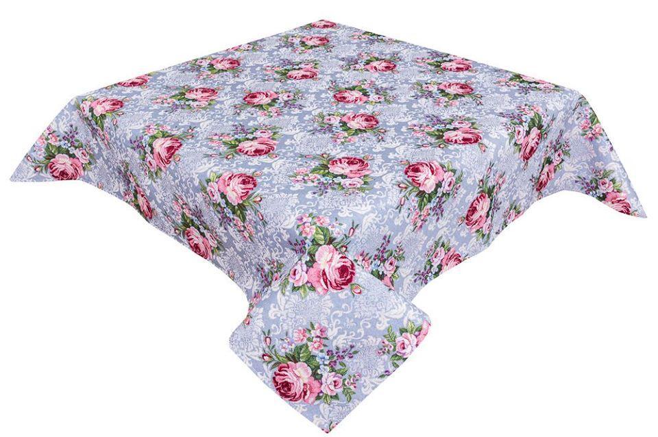 """Стильная дизайнерская скатерть гобеленовая высокое качество гобеленова """"Квіти класичні"""" 137х240"""