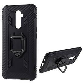 Чехол накладка для Realme X2 Pro противоударный с магнитным кольцом, Shell, Черный