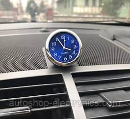 Автомобильные часы для салона авто на батарейке - СИНИЙ ЦИФЕРБЛАТ