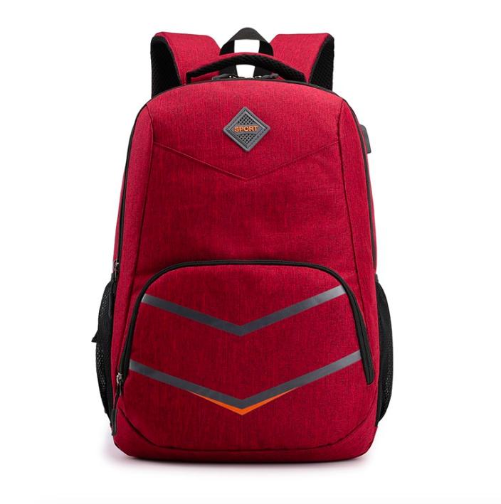 Рюкзак городской Taolegy Sport с выходом для гаджетов Черный Красный
