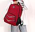 Рюкзак городской Taolegy Sport с выходом для гаджетов Черный Красный, фото 3