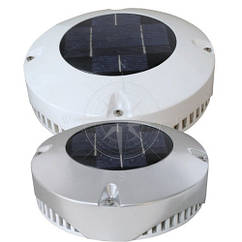 Вентилятор на солнечных батареях, 20 см, нержавеющая сталь, Lalizas.