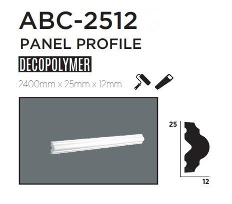 Молдинг для стен, гладкий, DECOLUX ABC2512, лепной декор из дюрополимера