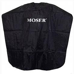 Накидка парикмахерская Moser, черная, 0092-6230