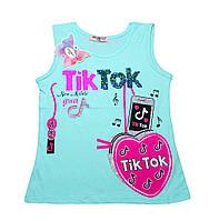"""Красивая майка  для девочки """"Tik-tok""""(от 5 до 8 лет)"""