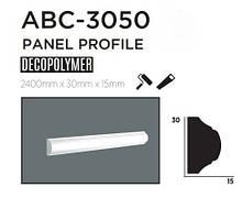 Молдинг для стен, гладкий, DECOLUX ABC3050, лепной декор из дюрополимера