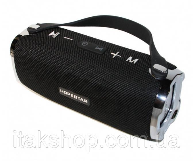 Портативная беспроводная колонка Hopestar H24 (Bluetooth микрофон Power Bank USB) Черный