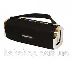 Портативная беспроводная колонка Hopestar H24 (Bluetooth микрофон Power Bank USB) Черный, фото 3