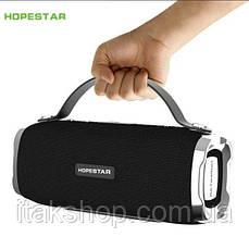 Портативная беспроводная колонка Hopestar H24 (Bluetooth микрофон Power Bank USB) Черный, фото 2