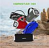 Портативная беспроводная колонка Hopestar H24 (Bluetooth микрофон Power Bank USB) Черный, фото 4
