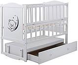 Детская кроватка Babyroom Тедди Т-03 с ящиком, фото 4