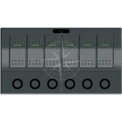Панель управления, горизонтальная, 6 клавиш, IP68, Sunfine.