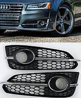 Боковые решетки бампера Audi S8 D4 (14-18)