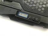 Подставка охлаждающая для ноутбука 4 вентилятора, диагональ 9-17 дюймов чёрный S18, фото 5