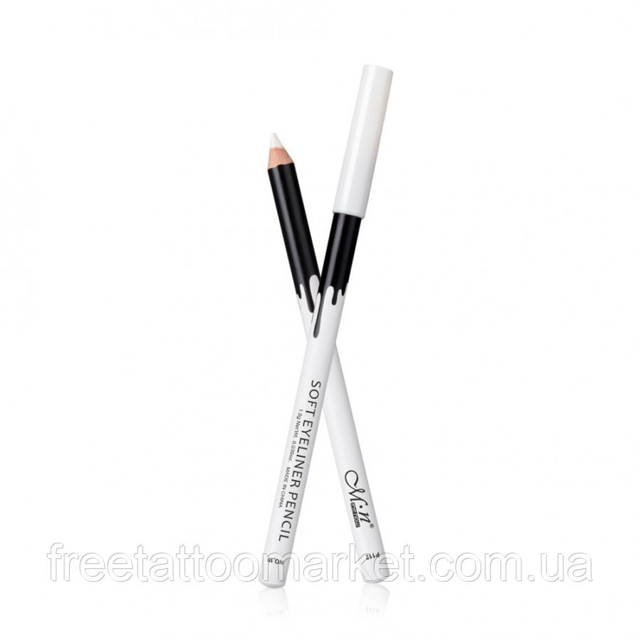 Водостійкий білий олівець Me Now Soft Eyeliner