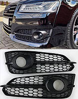 Боковые решетки бампера Audi S8 D4 (14-18) черные