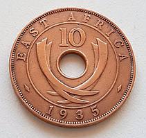 Британская Восточная Африка 10 центов 1935