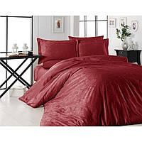 Модное постельное белье First Choice. Satin Jaсquard  Алый-Евро 7430, фото 1