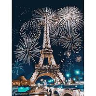 """Картина по номерам """"Огни Парижа"""" Идейка, 30х40"""