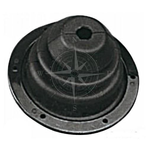 Втулка проходная, 140 мм, резина, чёрный, Osculati.