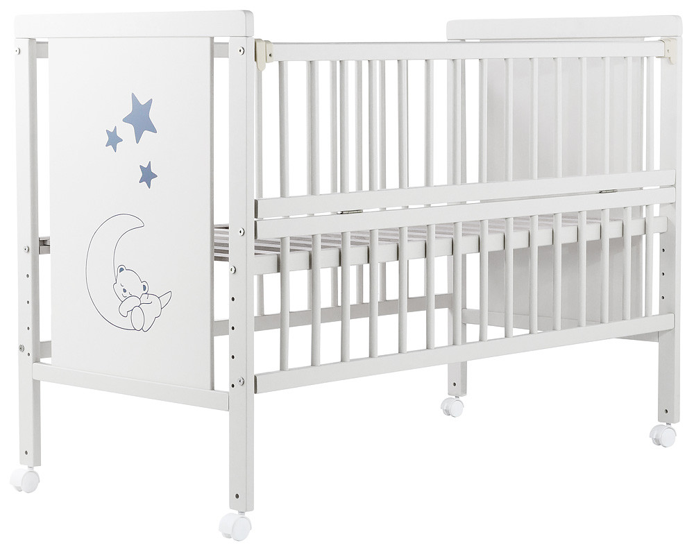 Дитяче ліжечко Babyroom Ведмежа M-01 на колесах