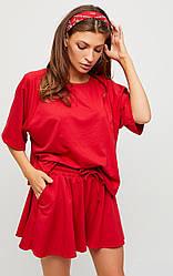 Женский костюм с шортами, в расцветках, р.S-М,М-L