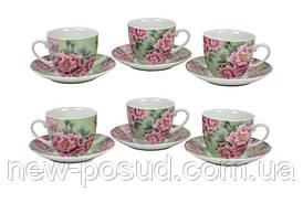Набор чайный Пионы 12 предметов Keramia K24-198-056