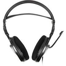 Наушники с микрофоном A4Tech HS-100 Black, кабель 2 м, гарнитура для компьютера и ноутбука, фото 2