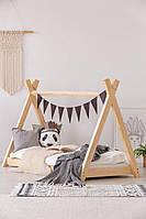 Кровать детская домик вигвам чердак 160 х 80 см MWood Домик-04